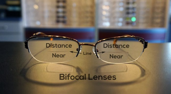 Here's what bifocal lenses look like.