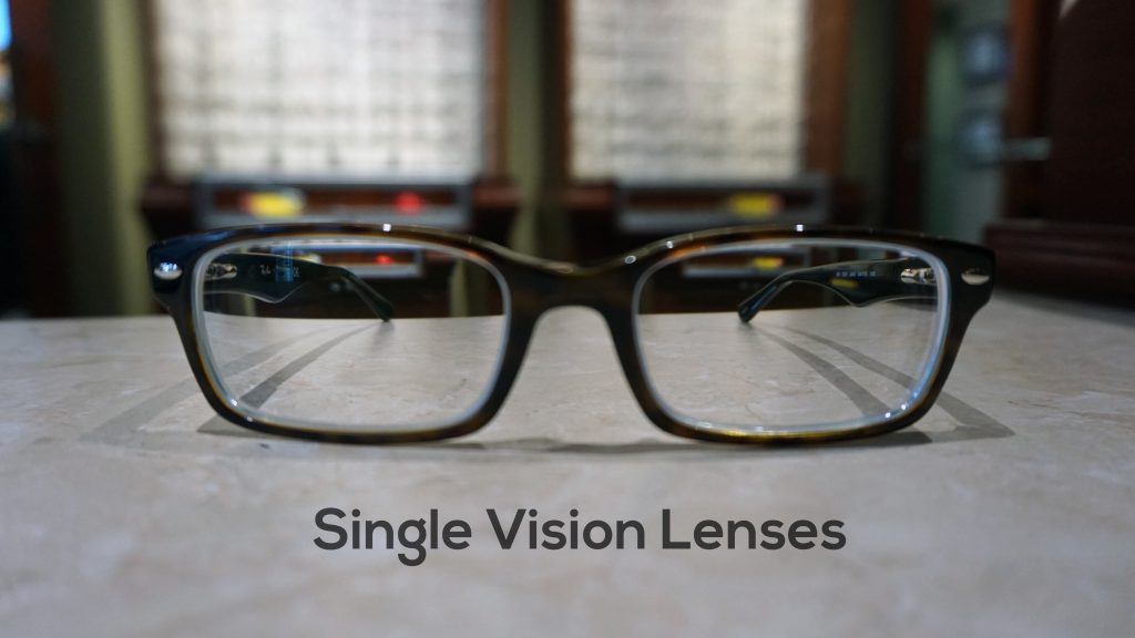 Here is an example of single vision lenses