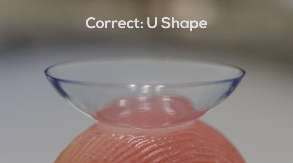 Contact lenses U shape (correct)
