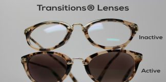 This is an example of what photochromic lenses look like.