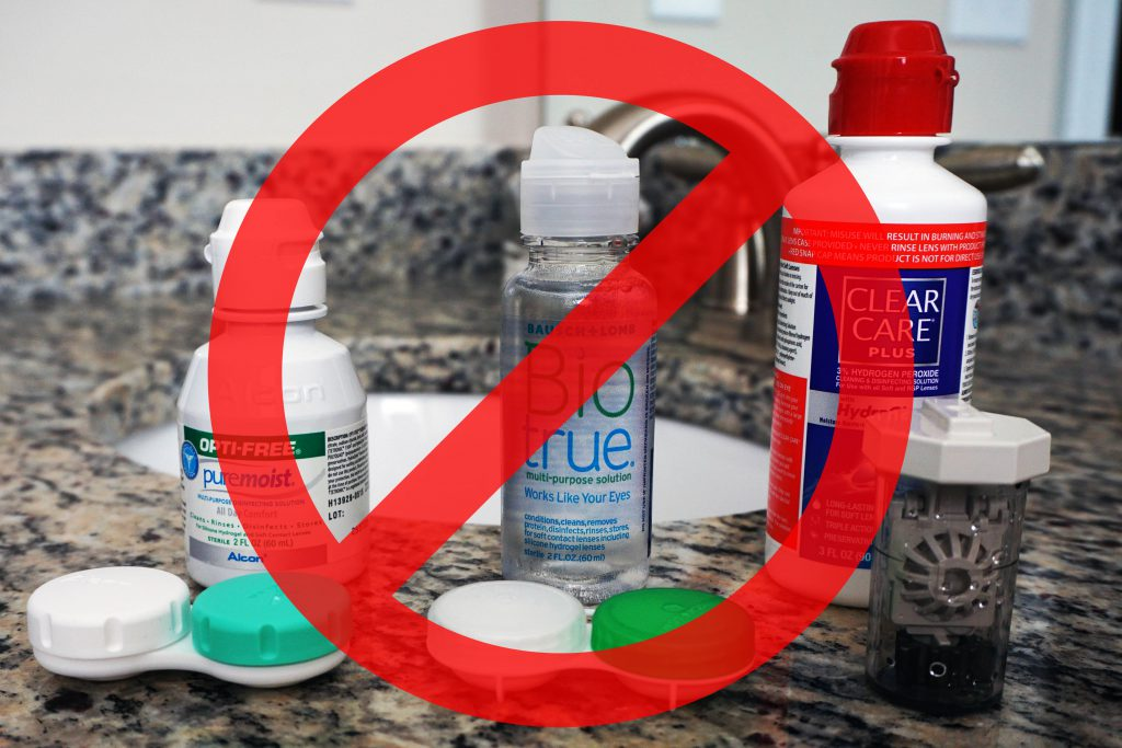 When wearing daily contact lenses, there is no need for contact lens solutions