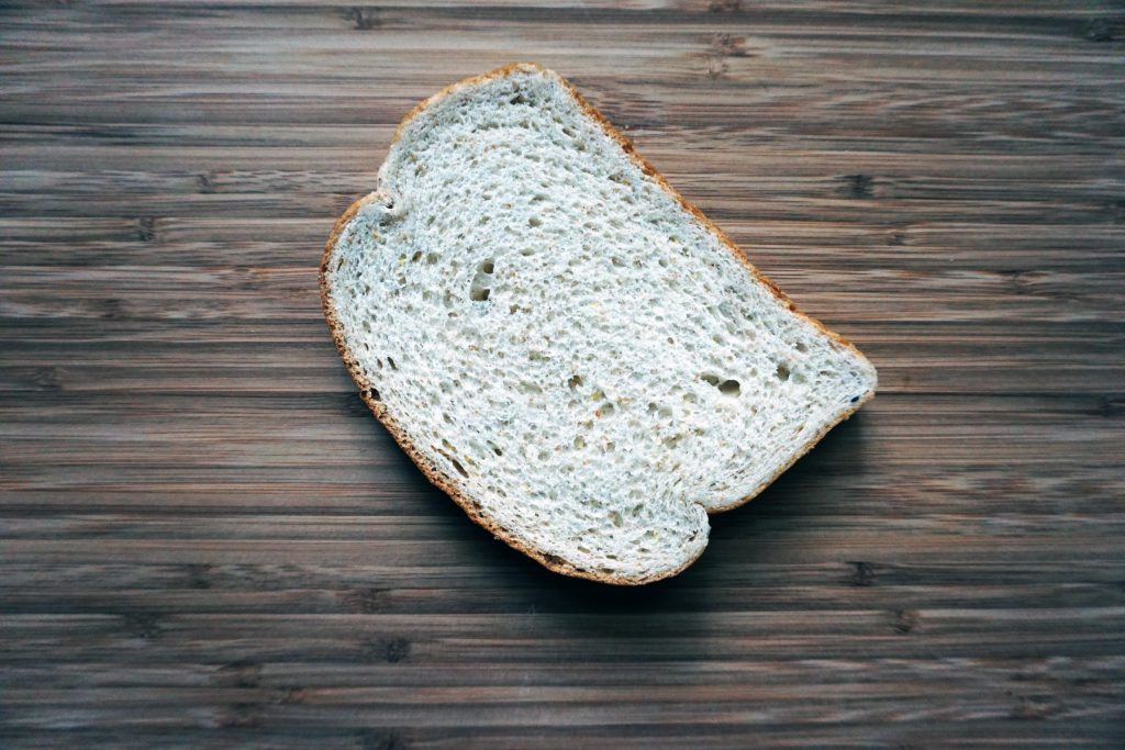 Wheat bread is a wonderful example of insoluble fiber