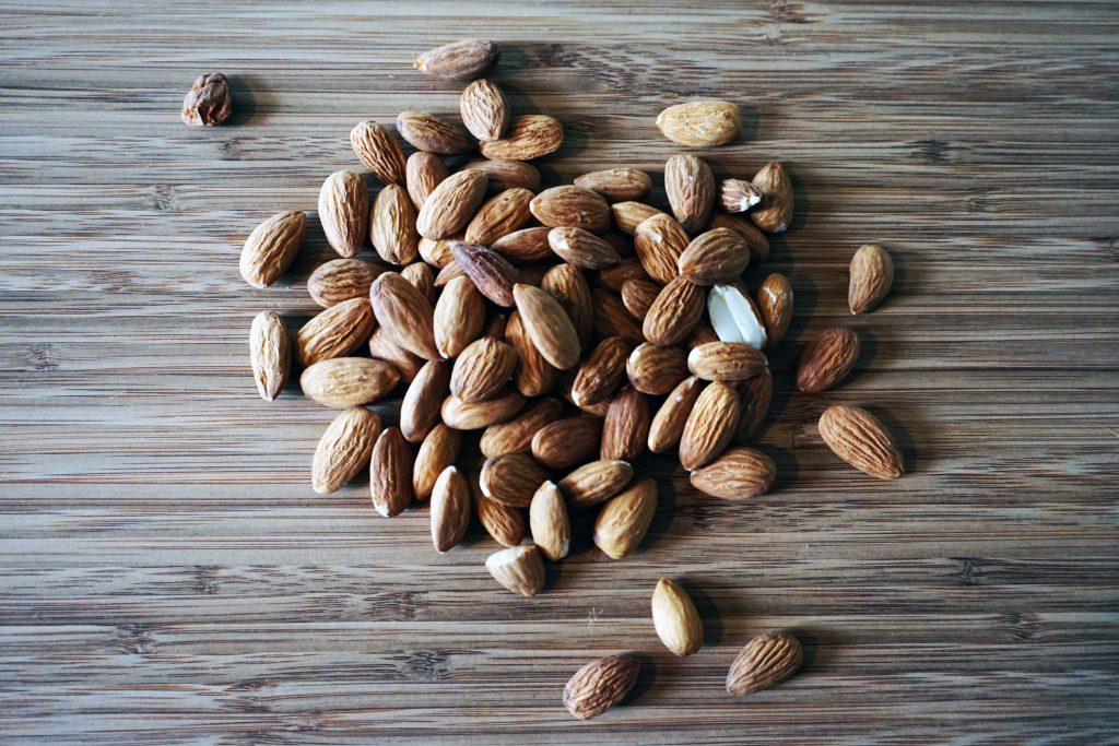 Nuts are a great example of insoluble fiber