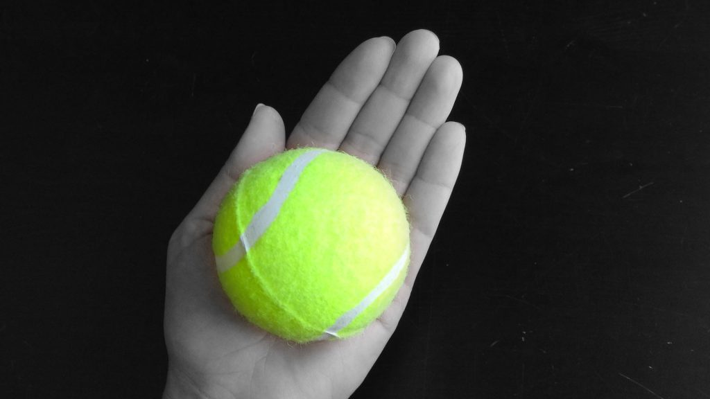 A serving of a whole vegetable, like a tomato or potato, is the size of a tennis ball.