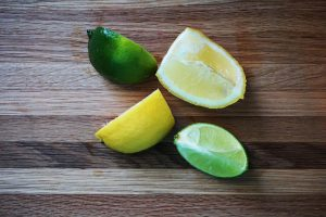 Lemon and limes have citrate in them.