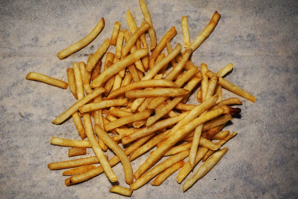 Limit fatty foods like french fries.