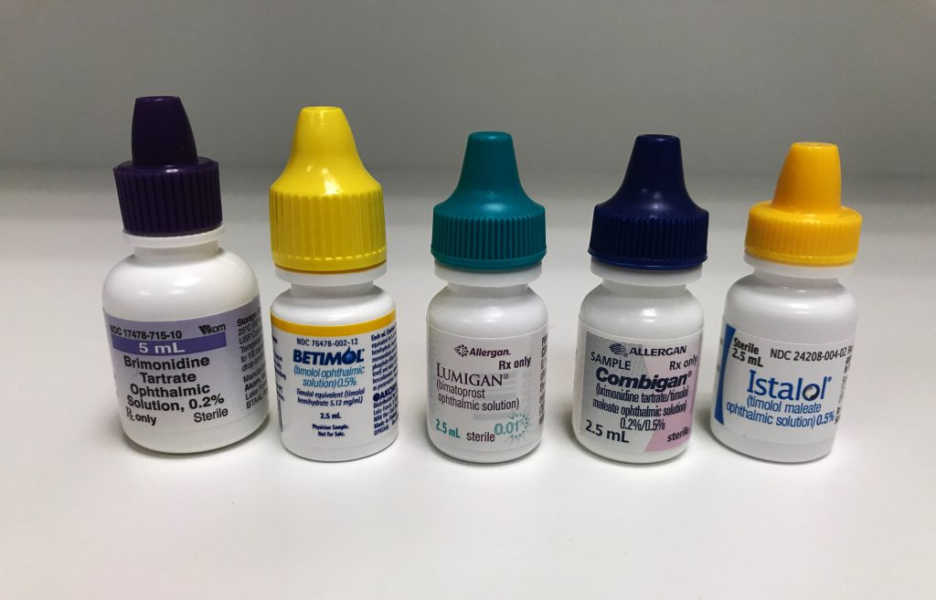 Here are a few glaucoma eye drops.