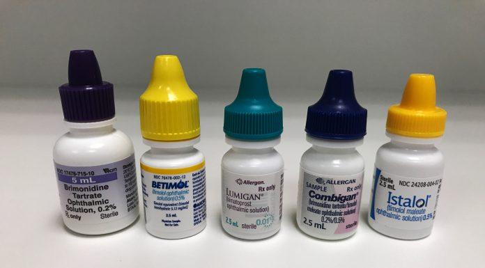 These are a few examples of popular glaucoma eye drops.
