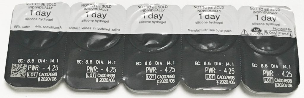 Clariti 1 Day contact lenses blister pack