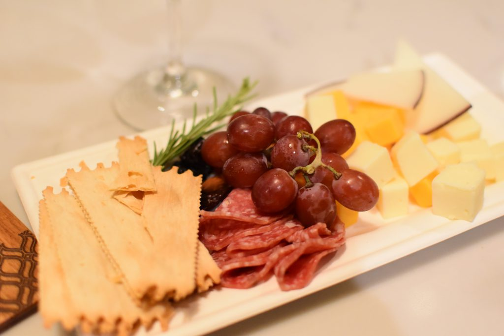 A grapes & cheese platter is a good example of combining dairy with other foods