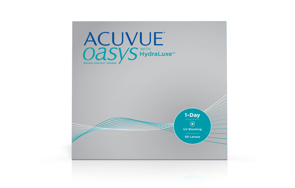 ACUVUE OASYS® 1-DAY with HydraLuxe™ box