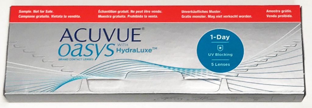 ACUVUE OASYS 1-Day with HydraLuxe trial box