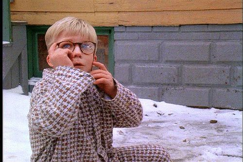 Ralphie's broken glasses in the movie A Christmas Story