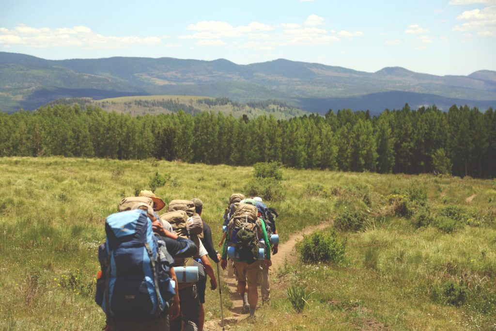 Hiking an outdoor trail is an example of enjoying environmental wellness