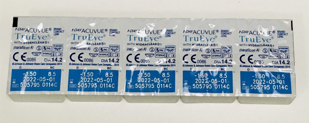 1-Day Acuvue TruEye blister packs