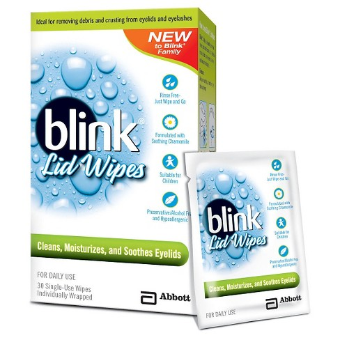 Blink eyelid wipes for blepharitis treatment