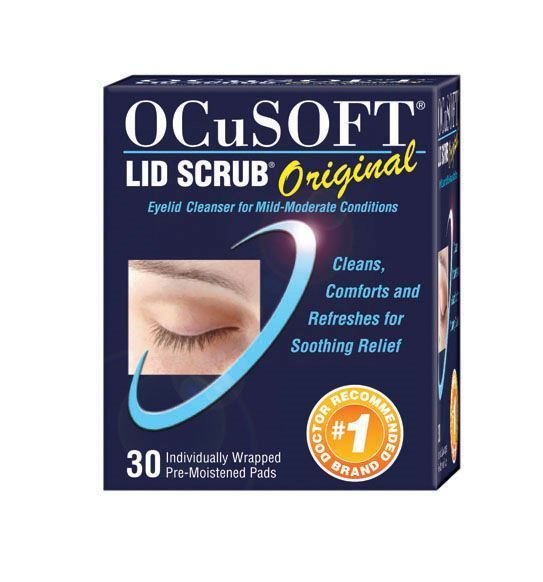 Ocusoft eyelid scrub for blepharitis treatment