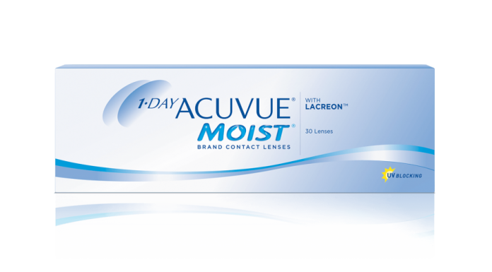 1-Day Acuvue Moist contact lens