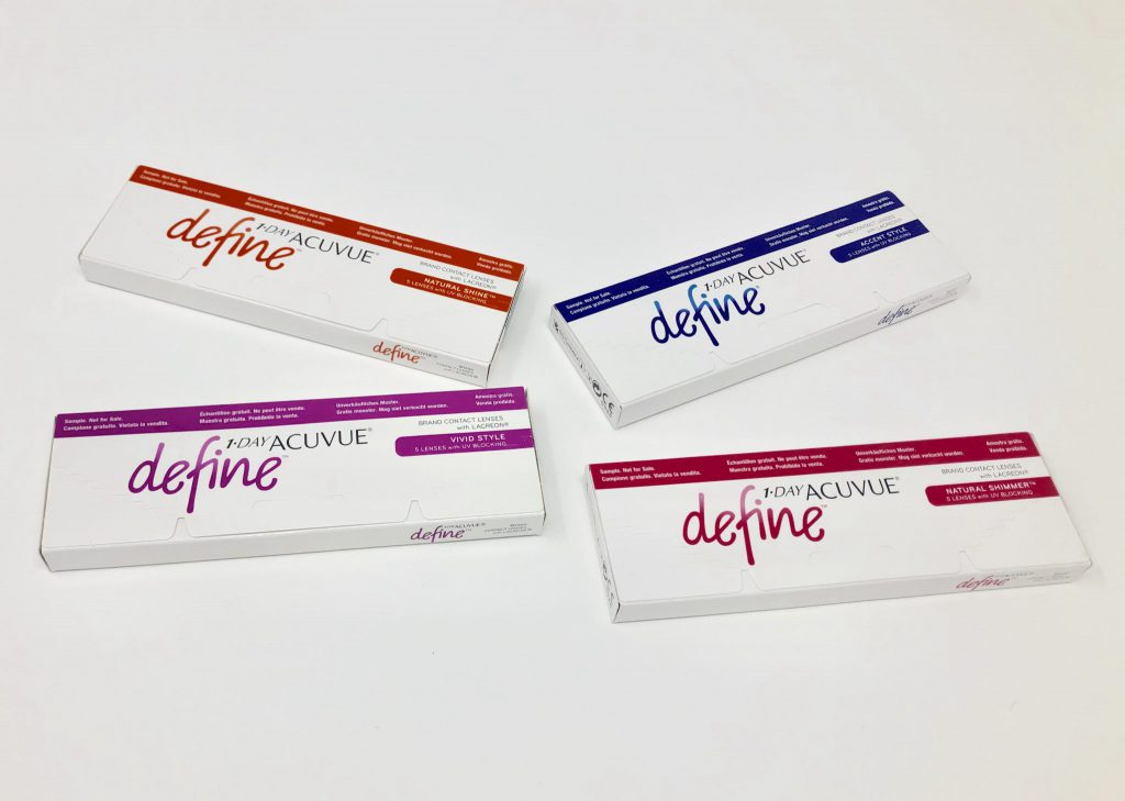 1-Day Acuvue Define Trial Boxes (with Color Options)
