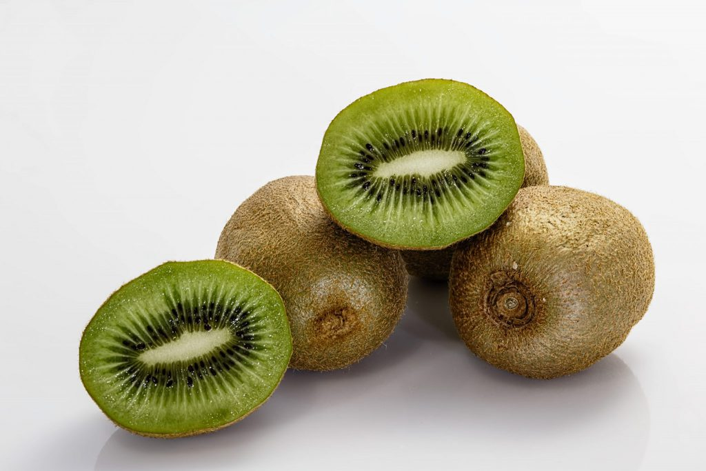 Kiwi is great to pair with iron rich foods