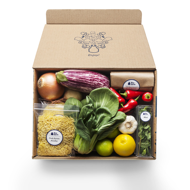 An example of a Blue Apron box