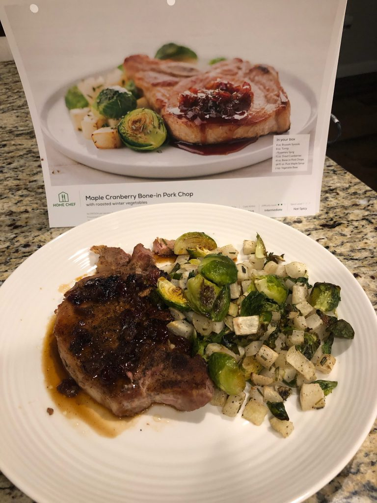 An example of a Home Chef meal