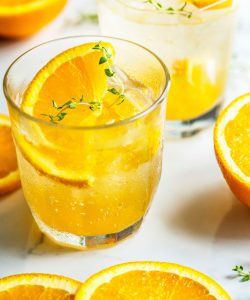 Orange juice often contains natural or artificial flavors