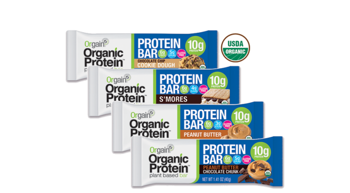 Orgain Organic Plant Based Protein Bars