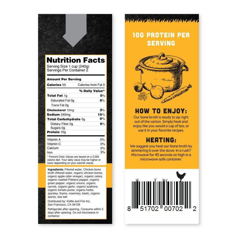 Kettle & Fire Bone Broth nutrition facts