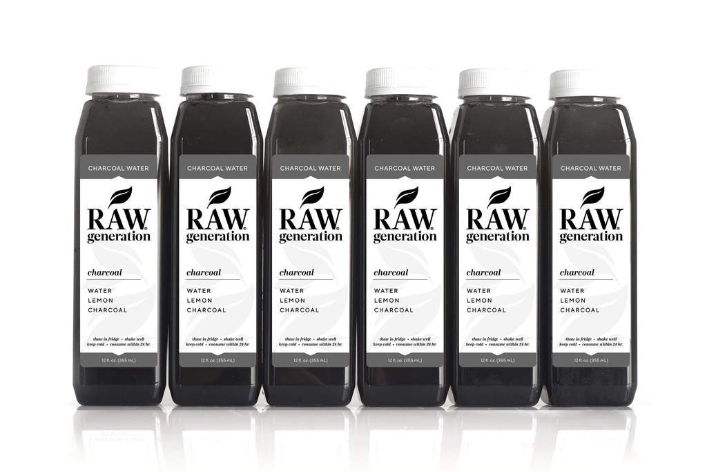Raw Generation Lemon Charcoal Water